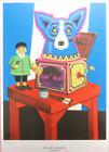 George Rodrigue - POP GOES THE REVEL - Framed Print Number 473 of 1000