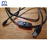 1.5m Micro USB Power Supply Charger Cable Wire With ON OFF Switch For Raspberry
