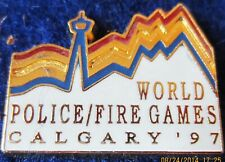 WORLD POLICE-FIRE GAMES CALGARY 97 pin