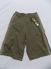 New Vtg Dr Doc Martens D1 0980146-004 Shorts Striped Sides Olive Junior S 28X12