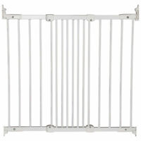 BabyDan FlexiFit Metal Adjustable 42 Inch Wall Mounted Baby Safety Gate, White