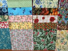 40 x 5' CHARM SQUARES 2 ea design x 20 Floral   100% Cotton Fabric Sewing No.19