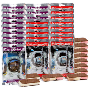 25 pcs. Astronaut Space Food - 13 Neapolitan and 12 Vanilla Ice Cream Sandwiches