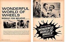 1966 WONDERFUL WORLD OF WHEELS TV SHOW WITH LLOYD BRIDGES ~ ORIGINAL 2-PAGE AD