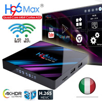 H96max Android 9.0 Smart TV BOX Assistente del ricevitore 4K 2Gb RAM WiFi