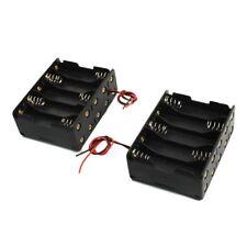 2 Pcs Black Plastic Battery Holder Case 10 x 1.5V AA D7F3