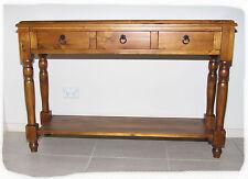 Alpine 3 Drawer Blackwood 1200x370 Timber Hall Table - BRAND NEW