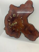 Vintage Lacquered Tree Trunk Wood Wall Clock