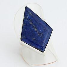 Natural Lapislazuli ANILLO PLATA 925 Joyas de piedras preciosas azul gr.16/56