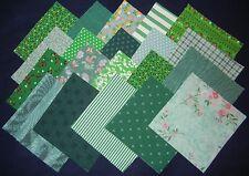 "30~4""x 4"" vintage green fabric squares~quilt blocks~kits/quilting"