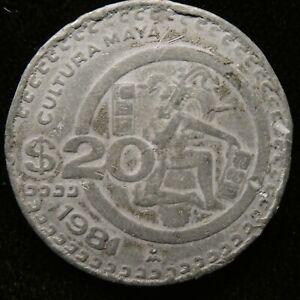 1981 Mexico 20 Pesos Cultura Maya Jugador de pelota Off Metal Strike KM 486 (420