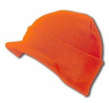Orange Visor Beanie Bill Cuff Knit Jeep Cap Hat Ski Skull Winter Unisex