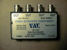 VAC BLACK BURST GENERATOR  RS-170-A        12-24 VDC