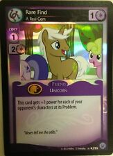 MY LITTLE PONY MLP CCG CARD GAME FOIL :Rare Find, A Real Gem #F23