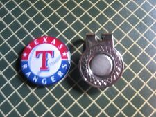 GOLF / Texas Rangers Logo Golf Ball Marker/with Magnet Hat Clip New!!