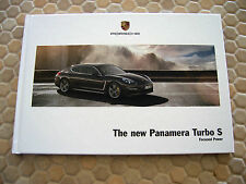 PORSCHE PANAMERA TURBO S HARDBACK PRESTIGE SALES BROCHURE 2014 USA EDITION.