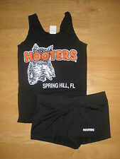 NW HOOTERS BL UNIFORM HALLOWEEN COSTUME NEW STY SHORTS MD FLA W/EXTRAS POUCH TAG