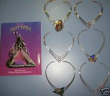 12 GOLDTONED NECKLACES 4 STAINED GLASS JEWELRY + GLITTERS a how to booK $85value