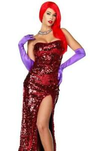 Toon Temptress Red Sequin Gown Costume