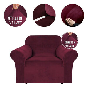 1 Seater Waterproof Slipcover Armchair Cover Elastic Stretch Chair Protector