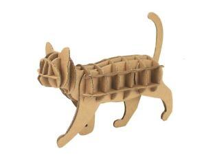 Chat à assembler en carton animaux puzzle 3D enfants décorer créer