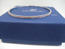 Swarovski Ready Light Rose Bangle, M Pink Tone Crystal Bracelet MIB 1121059