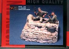 Hobby Fan 1/35 HF-518 US Marine Sniper (Vietnam War) - 2 Figures w/Base