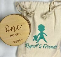 Wooden Baby Milestone Cards - 12 Monthly Props For Taking Pictures of Your Baby