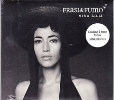 CD ♫ Compact disc «NINA ZILLI ♪ FRASI & FUMO» nuovo sigillato digipack