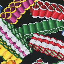 "Christmas Ribbon Candy 20 4"" fabric squares quilt cotton quilting holiday decor"