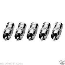 5 Stück Adapter BNC Buchse / Kupplung an Cinch Stecker RCA / Chinch