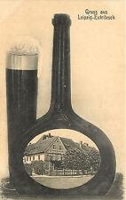 Gruss Aus Leipzig-Eutritzsch Vignette in Liquor Bottle With Beer Gosen Schanke