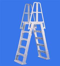 VinylWorks Slide Lock A Frame Ladder For Aboveground Swimming Pool SLA-W