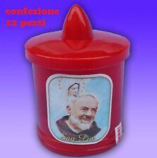 Set 12 Lumini Led Ceri a Batteria Per Preghiera Defunti Voto Religioso FYD-1 moc