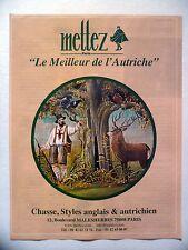 PUBLICITE-ADVERTISING :  METTEZ Meilleur de l'Autriche  2016 Vêtements Chasse
