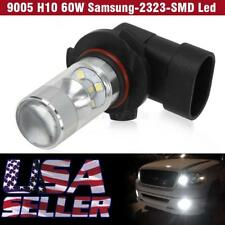 1Pc White 9005 HB3 9045 60W Projector Fog Driving Light Led Foglight for Ford