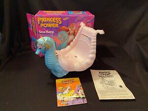 * Vtg She Ra Princess of Power POP Sea Harp Musical Seahorse Action Figure Box