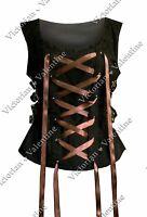 Steampunk Renaissance Victorian Medieval Gothic Historical Lace-Up Corset Top