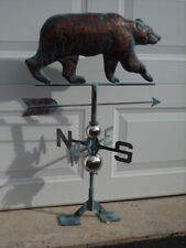 Bear Weathervane Antiqued Copper Finish Weather Vane Hand Crafted