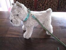 """Steiff Hund Schnauzer  """"Tessie"""" Silbergrau mit Halsband, Höhe ca.24 cm"""