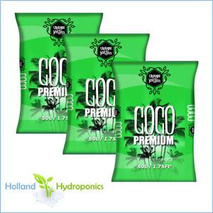 3x 50 LITRE URBAN JARDIN COCO PREMIUM PEAT COIR Hydroponics Growing Medium Soil