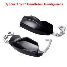 "Pair Motorcycle 7/8"" or 1 1/8"" Handlebar Handguards Black Hand Guards Protection"