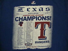 MLB Texas Rangers Major League Baseball 2011 World Series Champions T Shirt Y XL