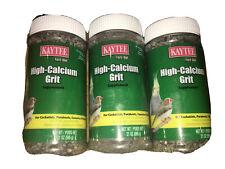3 Kaytee High Calcium Grit 21 oz Digestive Supplement Small Bird (bt)