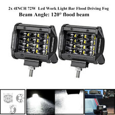 "2x4""72W Led Work Light Bar Flood Driving Fog Parts For Offroad Truck Trailer SUV"