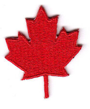 CANADIAN RED MAPLE LEAF, SYMBOL - CANADA - IRON ON EMBROIDERED PATCH
