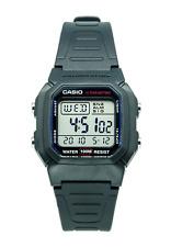 Authentic Casio W800h-1av Man's Kids Black Resin 100m Snooze Alarm Digital Watch