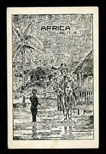 British Cwlth Africa NIgeria COMIC artist W A Large 1920 PPC