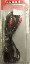 2 RCA Plug to 2 RCA Plug Lead AUX Cable Amp Male to Male Video Audio