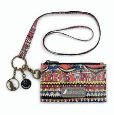 NWT Sakroots ID Lanyard Card Case Keychain Coin Purse Camel One World SHP INTL